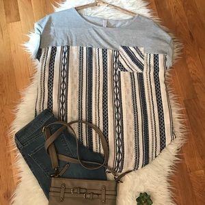 Comfy stripes 💗 Xhilaration size medium top